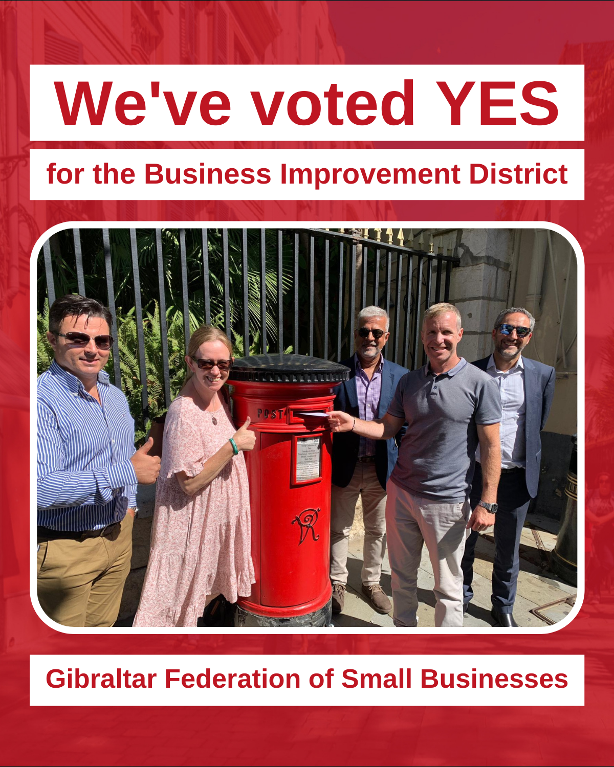 We've Voted Yes - GFSB